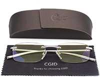 CGID Lesebrille aus leichter Metalllegierung mit Etui