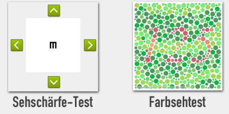 Sehschärfe-Test / Farbsehtest