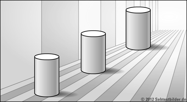 Optische Tauschungen Und Illusionen Sehtestbilder