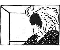 Sehtest Alte oder juge Frau (Kunstdruck)