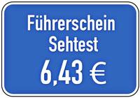 Führerschein Sehtest Kosten