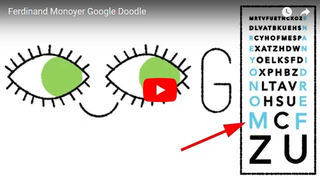 Ferdinand Monoyer Google Doodle