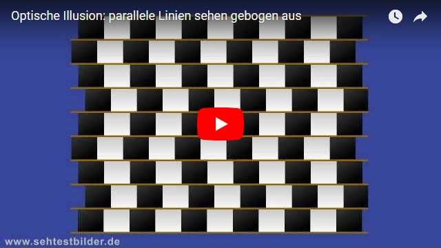 Optische Illusion: parallele Linien sehen gebogen aus