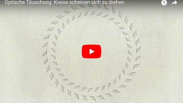 Optische Täuschung: Kreise scheinen sich zu drehen