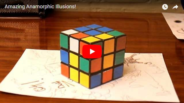 Amazing anamorphic illusions