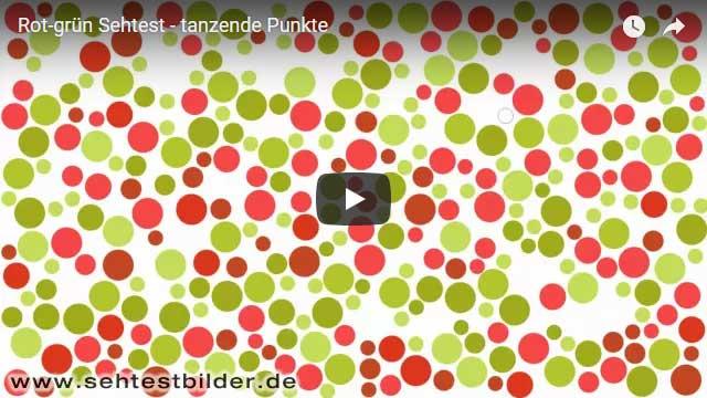 Rot-Grün-Sehtest (tanzende Punkte)