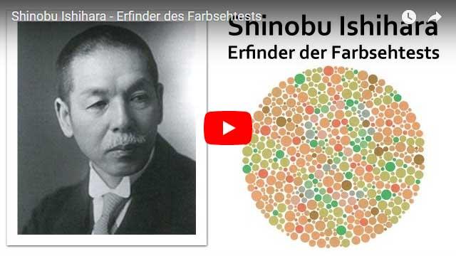 Shinobu Ishihara - Erfinder der Farbsehtests